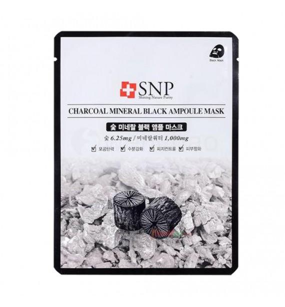 SNP CHARCOAL MINERAL BLACK AMPOULE MASK